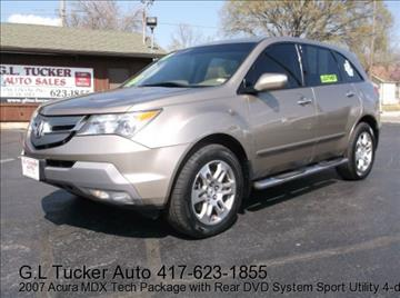 2007 Acura MDX for sale at G L TUCKER AUTO SALES in Joplin MO