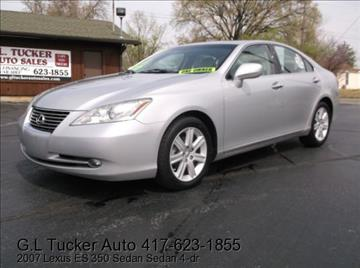 2007 Lexus ES 350 for sale at G L TUCKER AUTO SALES in Joplin MO