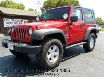 2007 Jeep Wrangler for sale at G L TUCKER AUTO SALES in Joplin MO