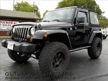 2010 Jeep Wrangler for sale at G L TUCKER AUTO SALES in Joplin MO