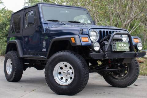 2001 Jeep Wrangler SE for sale at SELECT JEEPS INC in League City TX