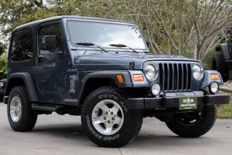 2002 Jeep Wrangler Sport for sale at SELECT JEEPS INC in League City TX