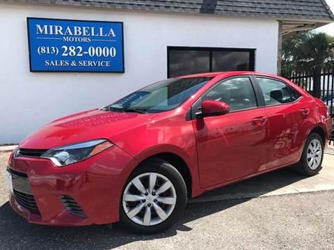 2016 Toyota Corolla for sale at Mirabella Motors in Tampa FL