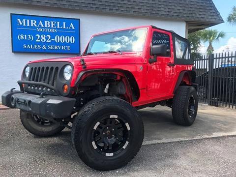 2013 Jeep Wrangler for sale at Mirabella Motors in Tampa FL