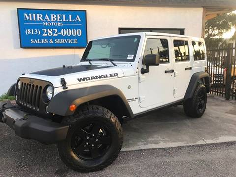 2017 Jeep Wrangler Unlimited for sale at Mirabella Motors in Tampa FL