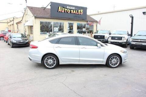 2017 Ford Fusion for sale at BANK AUTO SALES in Wayne MI