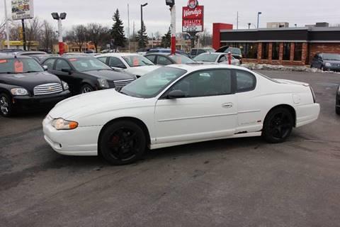 2001 Chevrolet Monte Carlo for sale at BANK AUTO SALES in Wayne MI