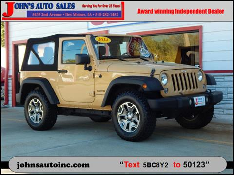 2014 Jeep Wrangler for sale in Des Moines, IA