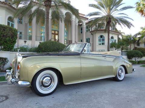 1963 Rolls-Royce SILVER CLOUD III  CONVERTIBLE for sale at Prestigious Euro Cars in Fort Lauderdale FL