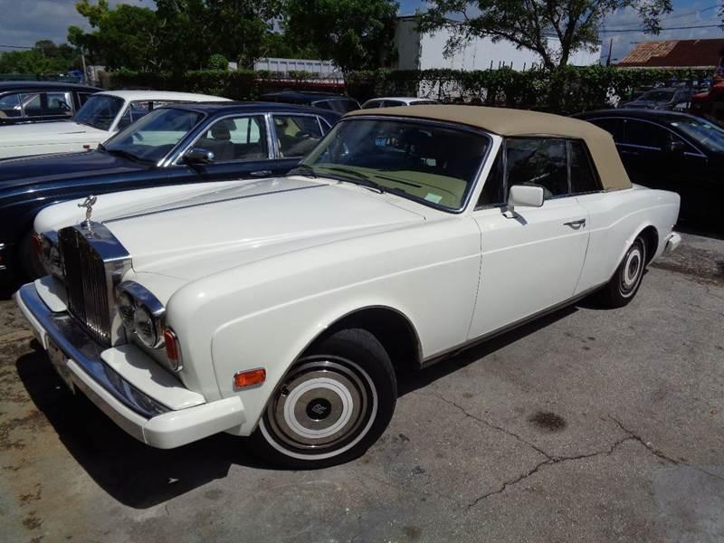 Used Rolls Royce For Sale >> 1985 Rolls Royce Corniche For Sale In Fort Lauderdale Fl