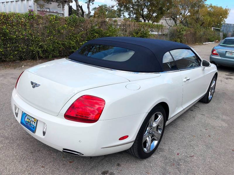 2007 Bentley Continental AWD GT 2dr Convertible - Fort Lauderdale FL