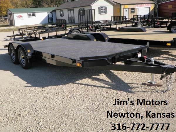2020 102 Ironworks 18' car hauler for sale at Jim's Motors - Standard Inventory in Newton KS