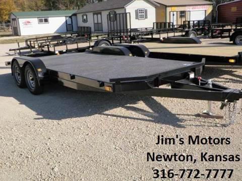 2021 102 Ironworks 18' car hauler for sale at Jim's Motors - Standard Inventory in Newton KS