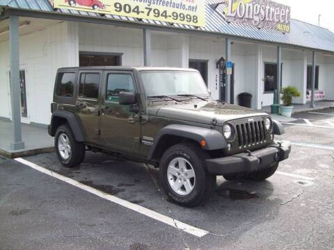 2016 Jeep Wrangler Unlimited Sport for sale at LONGSTREET AUTO in St Augustine FL