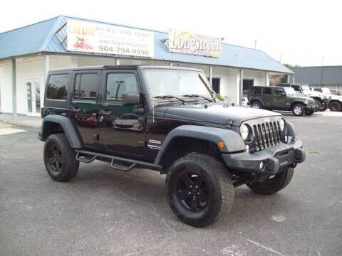 2015 Jeep Wrangler Unlimited Sport for sale at LONGSTREET AUTO in St Augustine FL