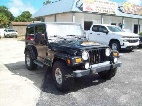 2001 Jeep Wrangler for sale at LONGSTREET AUTO in St Augustine FL