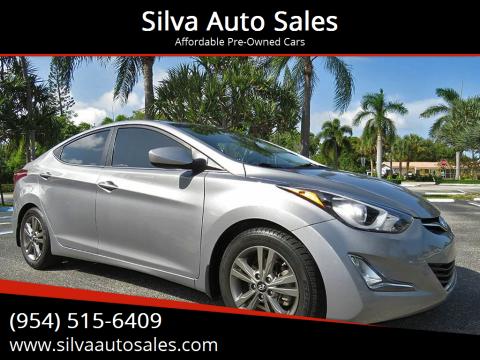 2015 Hyundai Elantra for sale at Silva Auto Sales in Pompano Beach FL