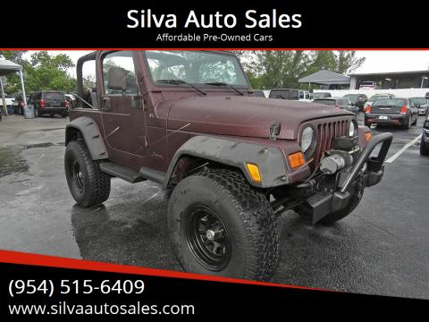 2001 Jeep Wrangler for sale at Silva Auto Sales in Pompano Beach FL