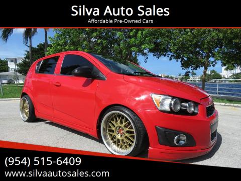 2016 Chevrolet Sonic for sale at Silva Auto Sales in Pompano Beach FL