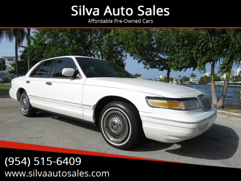 1997 Mercury Grand Marquis for sale at Silva Auto Sales in Pompano Beach FL