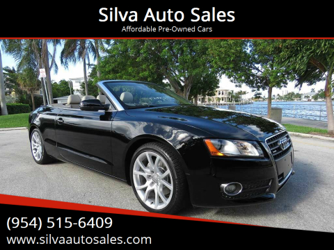 2010 Audi A5 for sale at Silva Auto Sales in Pompano Beach FL