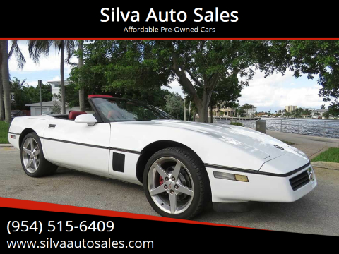 1989 Chevrolet Corvette for sale at Silva Auto Sales in Pompano Beach FL