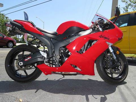 2007 Kawasaki Ninja ZX-6R for sale at Silva Auto Sales in Pompano Beach FL