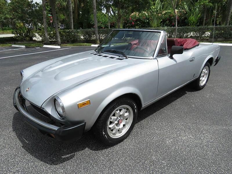 1982 FIAT 124 Spider for sale at Silva Auto Sales in Pompano Beach FL