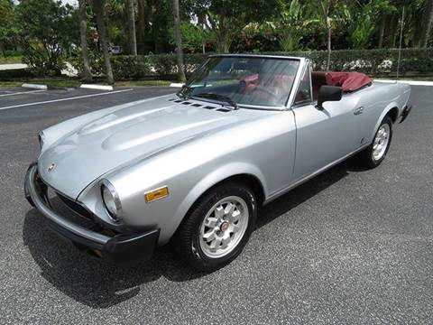 1982 FIAT 124 Spider for sale at Silva Auto Sales in Pompano Beach FL