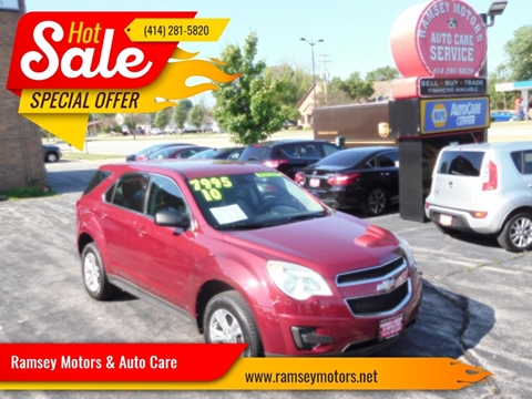 2010 Chevrolet Equinox for sale at Ramsey Motors & Auto Care in Milwaukee WI