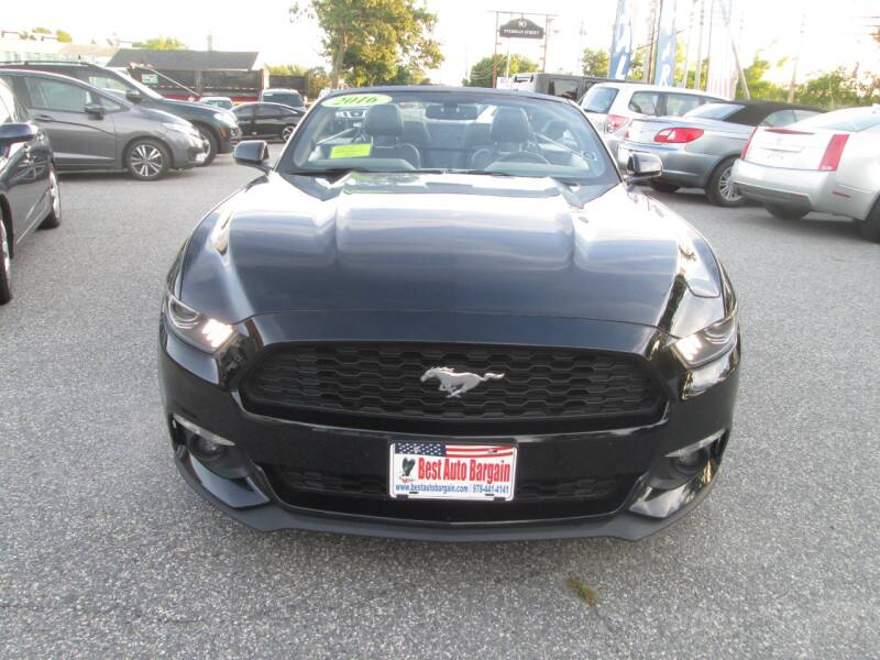 2016 Ford Mustang EcoBoost Premium 2dr Convertible - Lowell MA