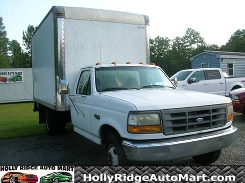1997 Ford F350 CAB & CHASSIS BOX TRUCK for sale in Holly Ridge, NC