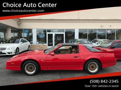 1989 Pontiac Firebird Trans Am GTA for sale at Choice Auto Center in Shrewsbury MA