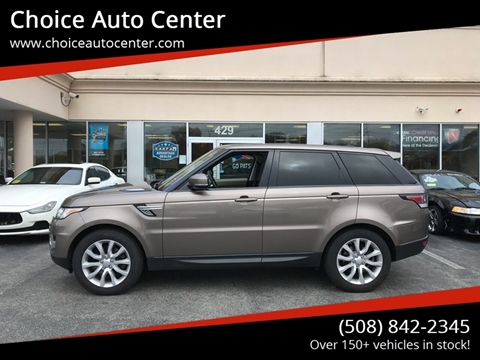 2015 Land Rover Range Rover Sport for sale at Choice Auto Center in Shrewsbury MA