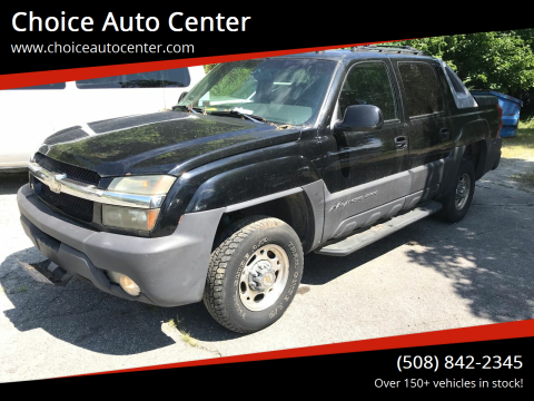 2003 Chevrolet Avalanche for sale at Choice Auto Center in Shrewsbury MA