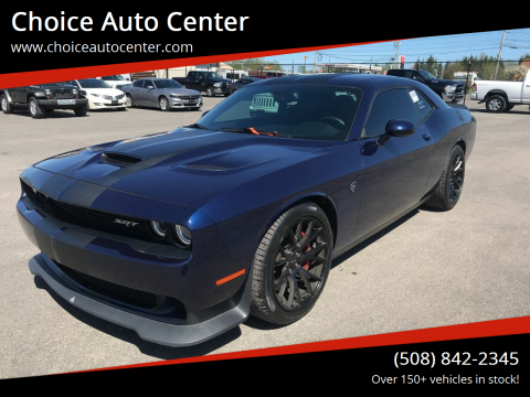 2016 Dodge Challenger SRT Hellcat for sale at Choice Auto Center in Shrewsbury MA