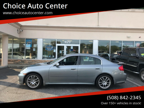 2006 Infiniti G35 for sale at Choice Auto Center in Shrewsbury MA