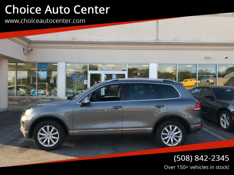 2015 Volkswagen Touareg for sale at Choice Auto Center in Shrewsbury MA