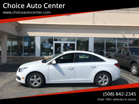 2015 Chevrolet Cruze for sale at Choice Auto Center in Shrewsbury MA