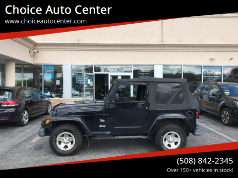 2003 Jeep Wrangler for sale at Choice Auto Center in Shrewsbury MA