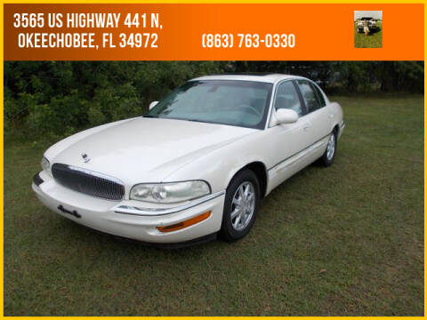 2001 Buick Park Avenue for sale at M & M AUTO BROKERS INC in Okeechobee FL