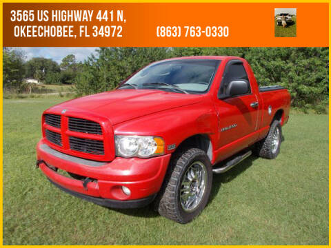 2003 Dodge Ram Pickup 1500 for sale at M & M AUTO BROKERS INC in Okeechobee FL