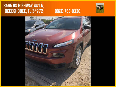 2016 Jeep Cherokee for sale at M & M AUTO BROKERS INC in Okeechobee FL