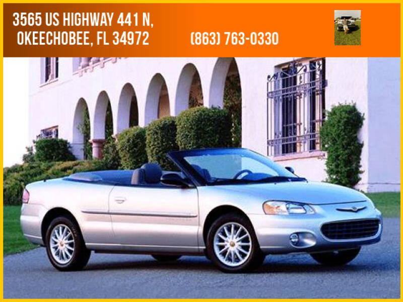 2001 Chrysler Sebring for sale at M & M AUTO BROKERS INC in Okeechobee FL