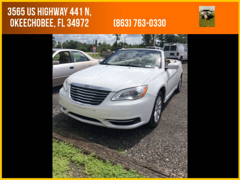 2012 Chrysler 200 Convertible for sale at M & M AUTO BROKERS INC in Okeechobee FL