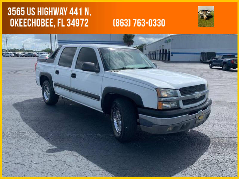 2003 Chevrolet Avalanche for sale at M & M AUTO BROKERS INC in Okeechobee FL