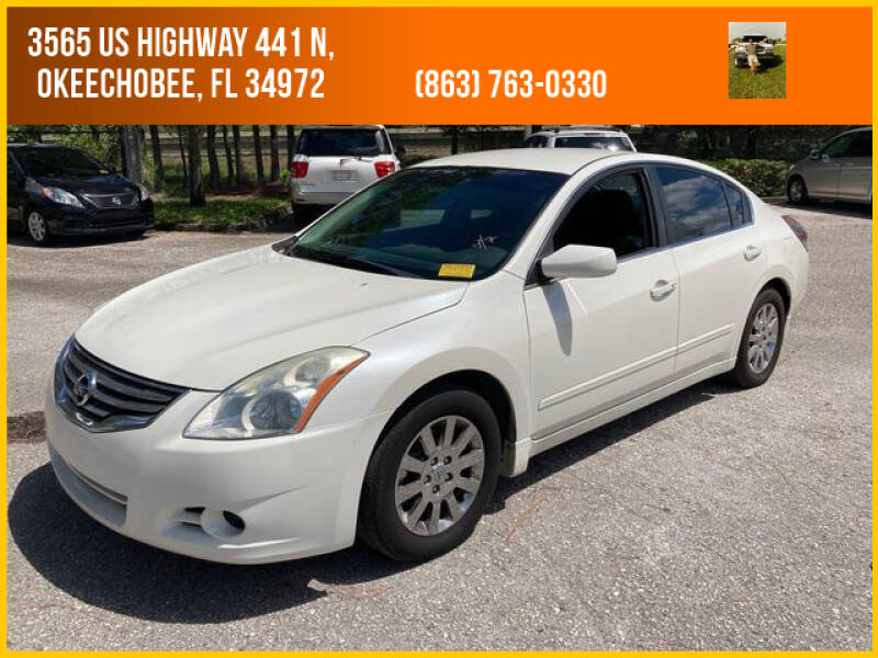 2010 Nissan Altima for sale at M & M AUTO BROKERS INC in Okeechobee FL