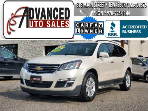 2014 Chevrolet Traverse for sale at Advanced Auto Sales in Tewksbury MA