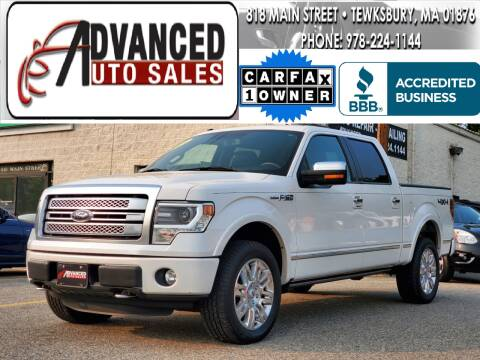 2014 Ford F-150 for sale at Advanced Auto Sales in Tewksbury MA