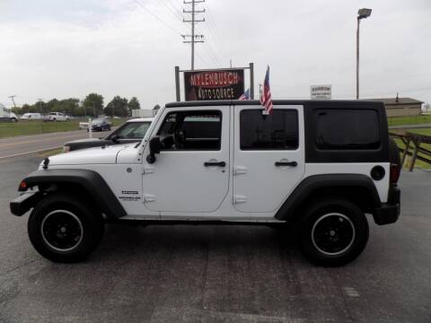 2015 Jeep Wrangler Unlimited for sale at MYLENBUSCH AUTO SOURCE in O` Fallon MO